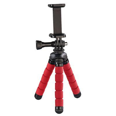 Hama Ministativ Flex für Smartphone und GoPro, 14 cm rot