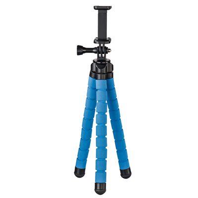 Hama Stativ Flex für Smartphone und GoPro, 26 cm blau