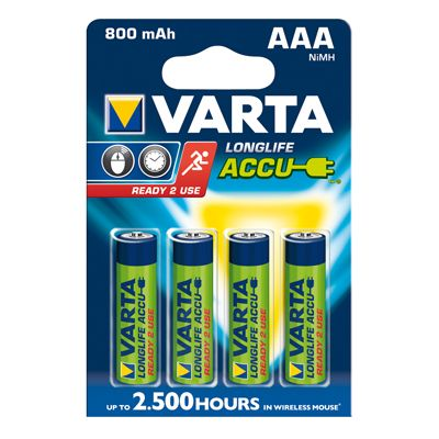Varta Akku AAA Micro Ready2Use 800mah 4er-Pack