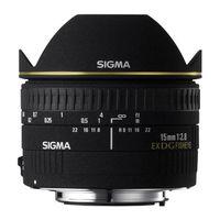 Zum Vergrößern hier klicken. Artikel: Sigma AF 15mm f/2,8 EX DG diag.Fisheye Sigma