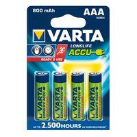 Zum Vergrößern hier klicken. Artikel: Varta Akku AAA Micro Ready2Use 800mah 4er-Pack